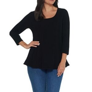 3/$25 ♡ Antthony black peplum top